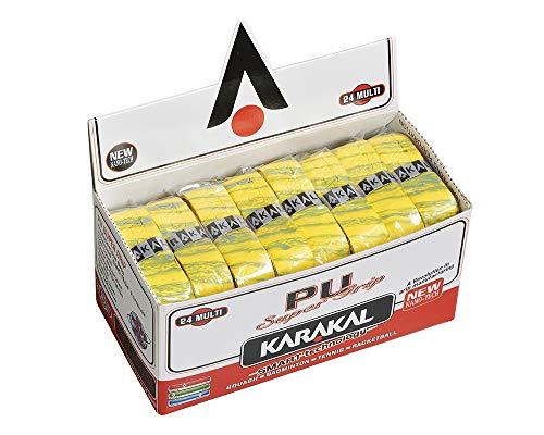 KARAKAL(カラカル) グリップ 全ラケットスポーツ対応 PU SUPER GRIP 24 Multi 黄色 24個1セット KJ 666Y 黄