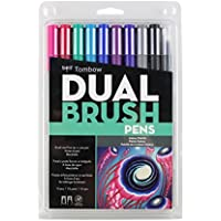 Tombow Dual Brush Pen Art Markers 10-pack, Galaxy