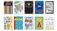 20pk Boxed卒業カードバルクwith Sentiment–College Elementary Grad