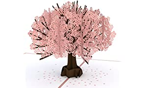 Lovepop Cherry Blossom Pop Up Card - Valentines Day Card, 3D Card, Lovepop Cards, Greeting Card, Birthday Card, Popup Greeting Cards, Mother's Day Card, Anniversary Card, Spring Card, Card for Mom