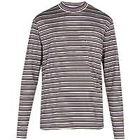 (ランバン) Lanvin メンズ トップス 長袖Tシャツ Striped long-sleeved cotton T-shirt [並行輸入品]