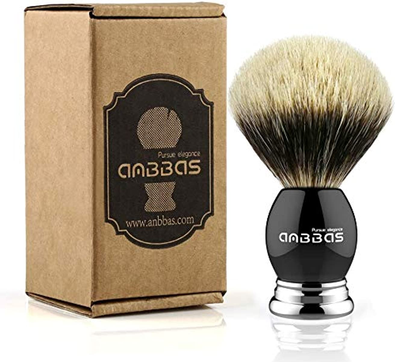 タウポ湖記念日重要なAnbbas®シェービングブラシセット ひげブラシ アナグマ毛 髭剃り 泡立ち メンズ 純粋なバッガーヘアシェービングブラシ (ブラシ)