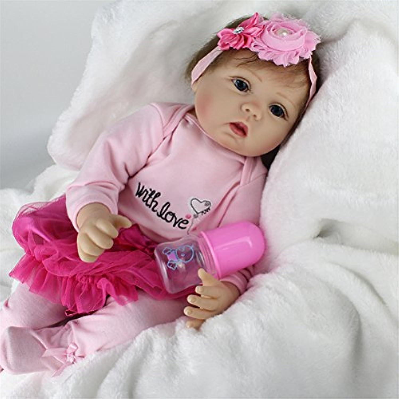 22インチベビー人形ソフトビニールReal Lifeベビー人形withフラワーヘッドドレス。