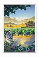 マデラ・ヴィンヤード・ワイン・トレイル - カリフォルニアワインカントリーアート によって作成された カーン・エリクソン - アートポスター - 33cm x 48cm