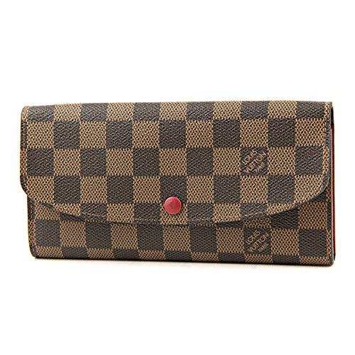ルイヴィトン(Louis Vuitton) ダミエ・エベヌ DAMIER EBENE N63544 長財布 ブラウン/レッド[並行輸入品]