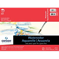 Canson C100511023 11 in. x 15 in. Watercolor Cold Press 15-Sheet Pad