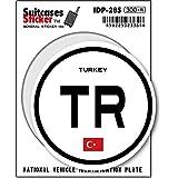 IDP-28S 国際識別記号ステッカー/トルコ(TURKEY) スーツケースステッカー 機材ケースにも!
