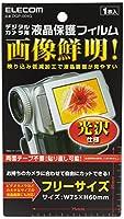 エレコム デジカメ ビデオカメラ用 液晶保護フィルム  フリーカットタイプ 光沢 DGP-004G