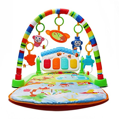 Wishtime 4WAYプレイマット 赤ちゃん 新生児 プレイトンネル ベビージム 寝かしつけ 泣き止め あんよでキック(内祝い、出産祝い)