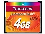 Transcend 4GB CF CARD (133X、 TYPE I ) TS4GCF133