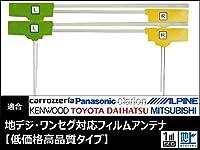 MAX776W 対応 地デジ アンテナ フィルム エレメント 4枚 セット 【低価格高品質タイプ】