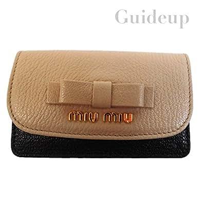 【miu miu】ミュウミュウ 2015SS 5M1122 マドラスカードケース CIPRIA+NERO レディース【並行輸入】