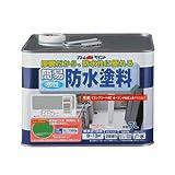 アトムハウスペイント 水性簡易防水塗料 7L ライトグレー
