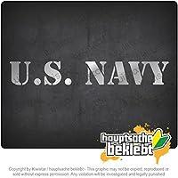 米海軍 U.S. Navy 20cm x 3cm 15色 - ネオン+クロム! ステッカービニールオートバイ