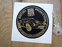 Lotus British Production Sports Car Champions JPS Biba Sticker ロータス ブラック&ゴールド ステッカー シール デカール 85mm 2枚セット [並行輸入品]