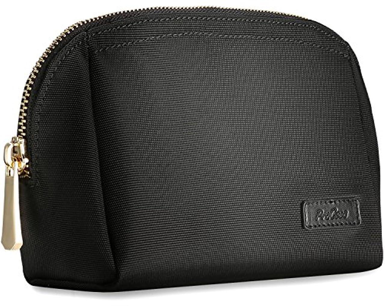 慣習ボット提供ProCase 化粧ポーチ メイクボックス メイクバッグ 旅行用品オルガナイザー 保管袋 化粧品 スキンケアセット フェイシャルクレンザー 美容品 -ブラック