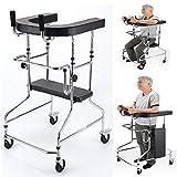 4つの車輪/調節可能な高齢者が付いている軽量の多機能の折りたたみRollator高齢者、障害者およびのためのFoldable Walker/サポート援助