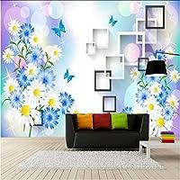 Mingld 壁のためのホームセンターの3D壁紙3D装飾的な壁紙の背景絵画菊の壁壁画の壁紙3D-250X175Cm