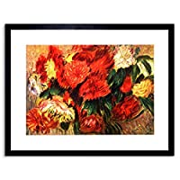Painting Renoir Still Life Chrysanthemums Framed Wall Art Print