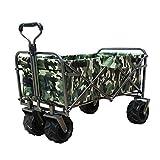 DABADA(ダバダ) キャリーカート 耐荷重150kg 容量95L アウトドアワゴン 折りたたみ 軽量 大型タイヤ 4輪 (CAMO B)