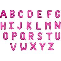 文字 アルファベット バルーン サイズ30センチ カラーマゼンタ 全アルファベットから選べるバルーン (N)