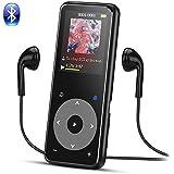 AGPTEK Bluetooth搭載 MP3プレーヤー Hi-Fiロスレス音質 デジタルオーディオプレーヤー 光るタッチボタン 歩数計 合金製 内蔵8GB 最大128GBマイクロSDカード対応 A16 ブラック