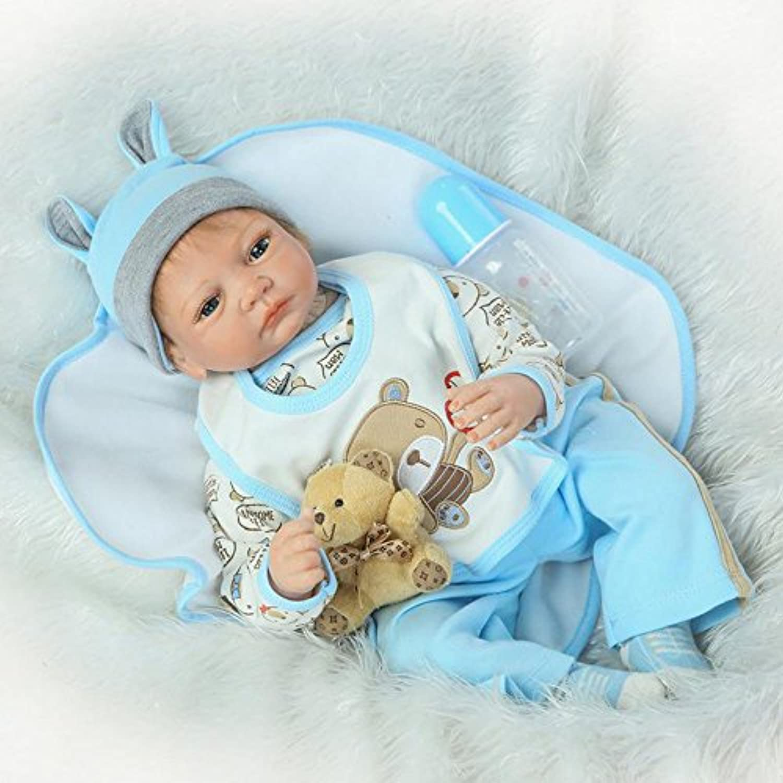 Realistic Rebornベビー人形22インチソフトシリコンビニールBoyモデル人形Looks So Truly新生児赤ちゃん人形子供おもちゃ誕生日ギフト