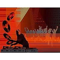 Painting Drawing Nightclub Dj Dance Music Art Print Poster Wall Decor 12X16 Inch ペインティング図夜ダンス音楽ポスター壁デコ