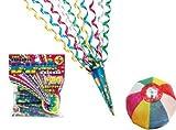 【クラッカー】ドハデクラッカー5個入(10袋)  / お楽しみグッズ(紙風船)付きセット