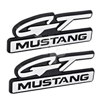 """1994& 1995Ford """" Gt Mustang """" StylizedスクリプトフェンダーEmblems–4.25""""ロングペア"""