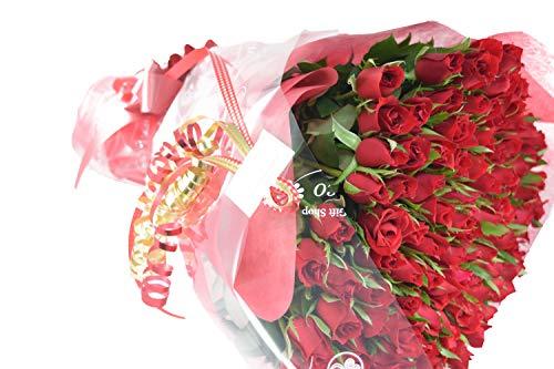 fleurcocoオリジナル 深紅の 赤バラ花束60本 おしゃれなギフトラッピングでお届け 【還暦祝いプレゼント 誕...
