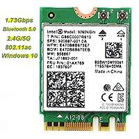 MODING WIFIカードIntel Wireless-AC 9260 5GHz/2.4GHz 802.11ac MU-MIMO 1.73Gbps Wi-Fi + Bluetooth 5 無線LANカード (9260NGW) NGFF M.2ワイヤレスモジュール