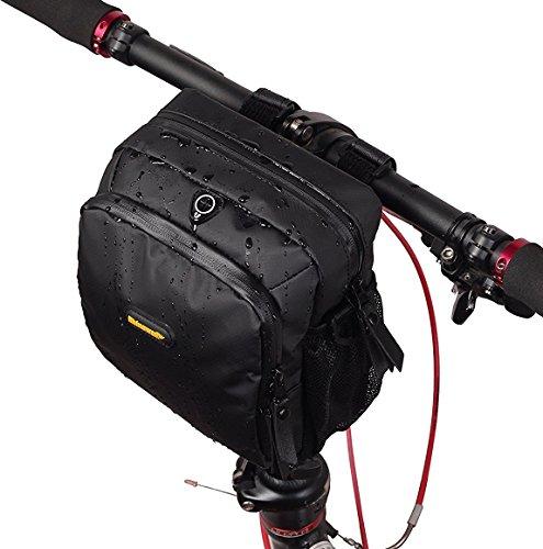 Rhinowalk 自転車用フロントバッグ ショルダーバッグ ウエストバッグ 3way 防水 ハンドルバーバッグ (マット ブラック)