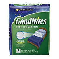 GoodNites Disposable Bed Mats, 9 Count by GoodNites