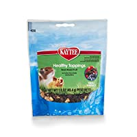 Kaytee Fiesta Healthy Treat for Small Animals, 1.6-Ounce, Mixed Fruit Toppings by Kaytee