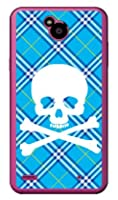 SECOND SKIN スカルパンク ブルー (クリア) / for Disney Mobile on docomo DM-02H/docomo DLGD2H-PCCL-201-Y217