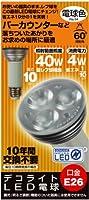 エス・ティー・イー デコライト LED電球 (照射角60°・E26口金・レフ型・40W型レフ球 相当(4W)・230ルーメン・電球色) JD2610CC