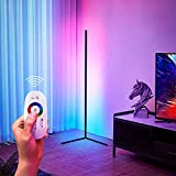 TBOYUAN RGB Floor Lamp, Corner Floor Lamp with Remote Control, RGB Colour Changing Standing Lights, Nordic Minimalist Living