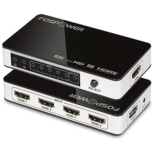 5入力1出力 5ポート 4K HDMI スイッチ 自動 切替器 セレクター 分配器