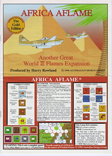 ADG :アフリカAflamesキットfor the World in Flames Boardgame、5th Edition
