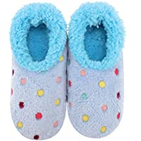 Slumbies! Womens Slippers - House Slippers for Women - Fuzzy, Fluffy Slippers for Ladies - Lotsa Dots