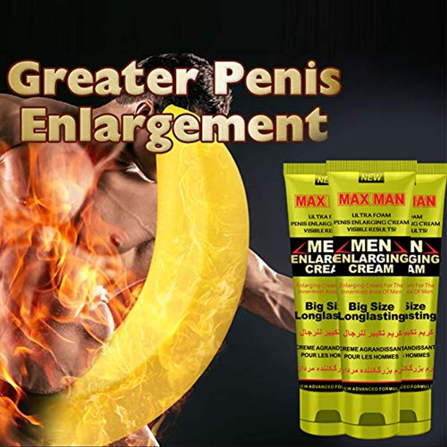 禁輸さておき凍ったLucoss 男性のマッサージクリームの陰茎はより長く、より厚い陰茎の強化のクリームの性プロダクトになります