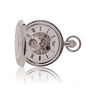 [ラポート]RAPPORT 懐中時計 機械式手巻 ダブルハンターケース スケルトン PW49 【正規輸入品】