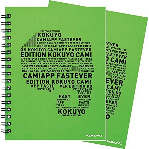 コクヨ ツインリングノート CamiApp 緑 B罫 A6 2冊 ス-TCAEN92B-GX2