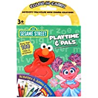 Playtime & Pals Sesame Street Color N Carry Activityトラベラーwithジャンボクレヨン