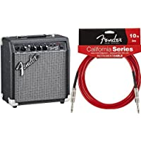Fender アンプスターターセット Frontman 10G&California Cable, Candy Apple Red