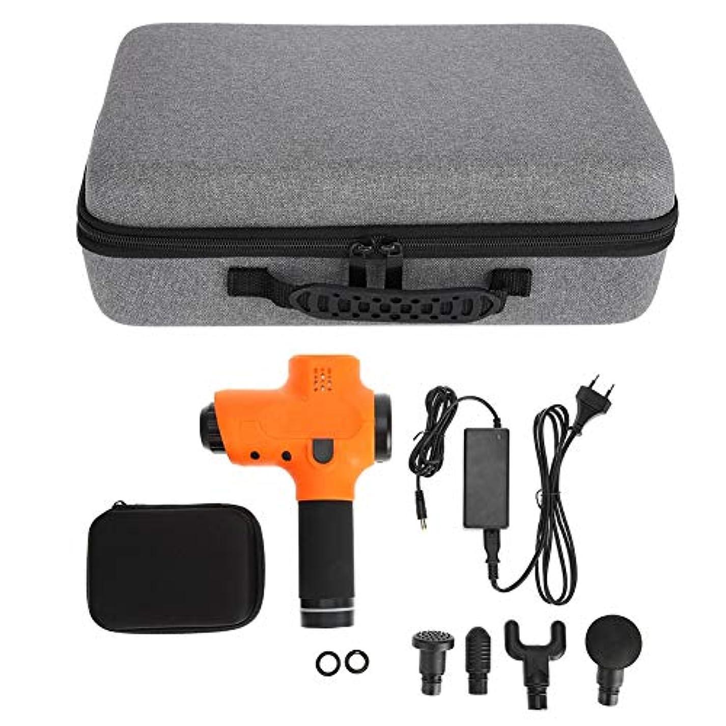 失態くしゃみ頑張る筋膜マッサージ銃、コードレスハンドヘルドディープティッシュ&マッスルマッサージ、ボディリラクゼーションマッサージ機(US Plug)
