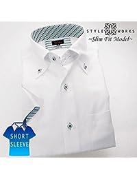 (スタイルワークス) メンズ半袖ワイシャツ | 白