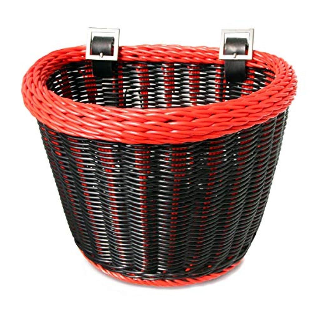 枯れるスリンクにやにやColorbasket 02218 Junior Front Handlebar Bike Basket, Black with Red Trim by Colorbasket