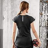 BEESCLOVER Summer Women Yoga T-Shirt Elastic O-Neck Blouse Short Sleeve Tops Breathable Tees Reflective Stripe Running Shirt Quick Dry Tops